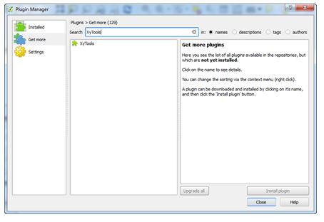 Install Plugin để thêm vào QGIS