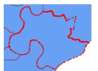 Các node trên các đường gấp khúc tạo thành vùng