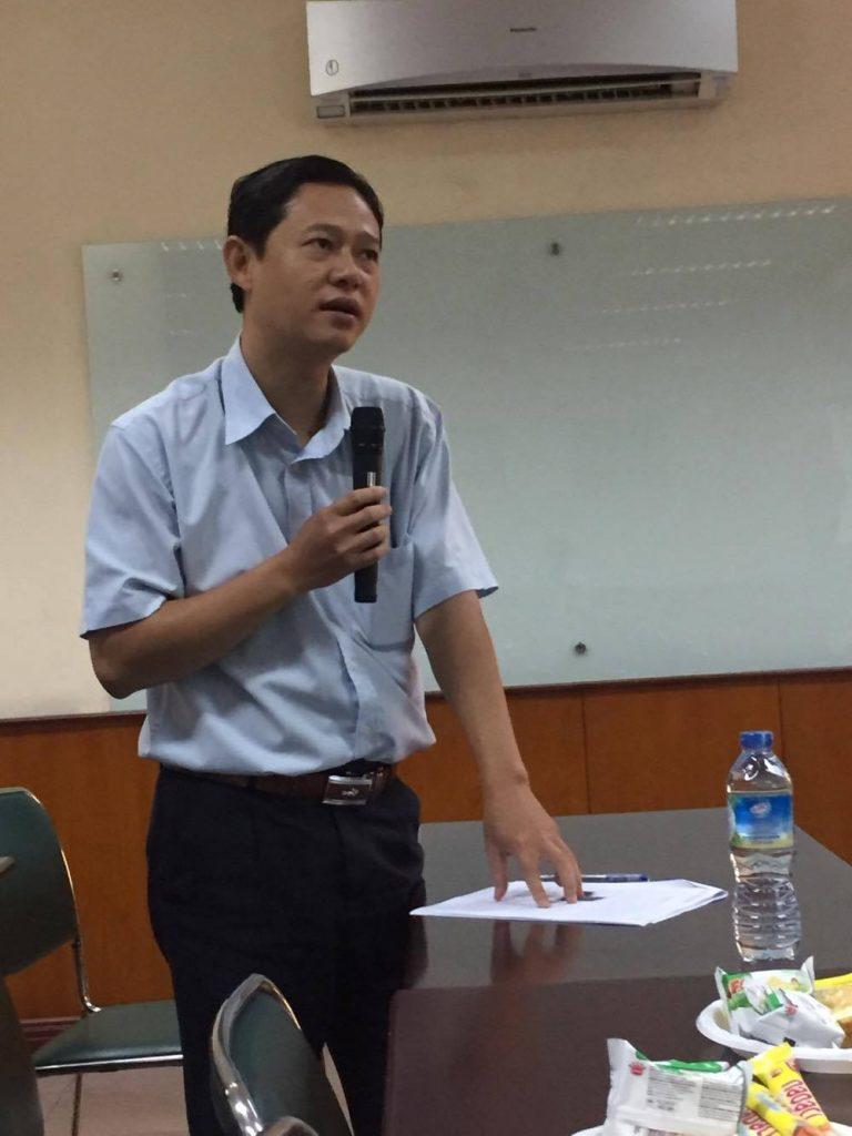 Thầy Lê Chí Lâm - Trưởng bộ môn Bản đồ - Viễn thám - GIS - Trường ĐHKHXH&NV