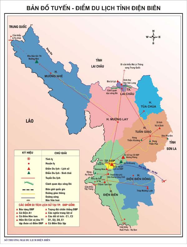 Bản đồ du lịch Điện Biên