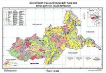 bản đồ hiện trạng sử dụng đất năm 2010 huyện quốc oai hà nội