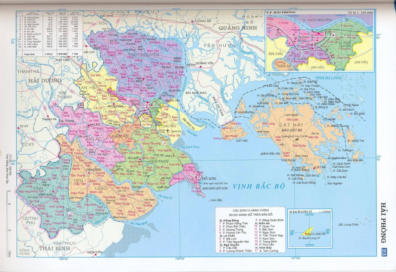 Bản đồ hành chính tỉnhHải Phòng
