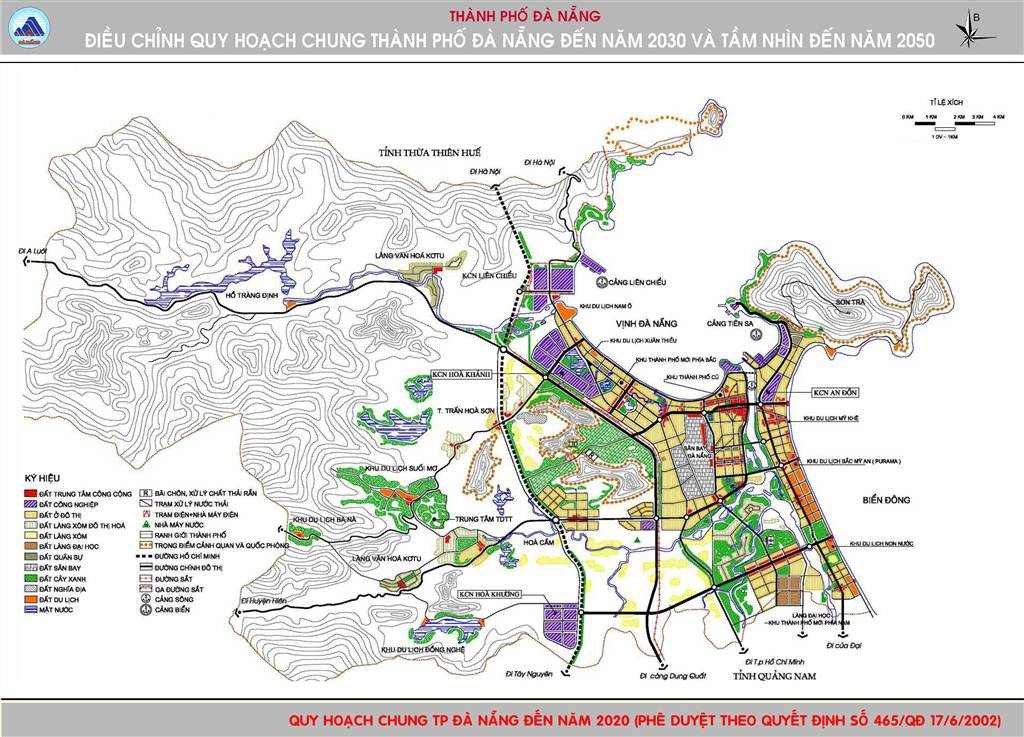 Bản đồ định hướng phê duyệt 2020 Đà Nẵng