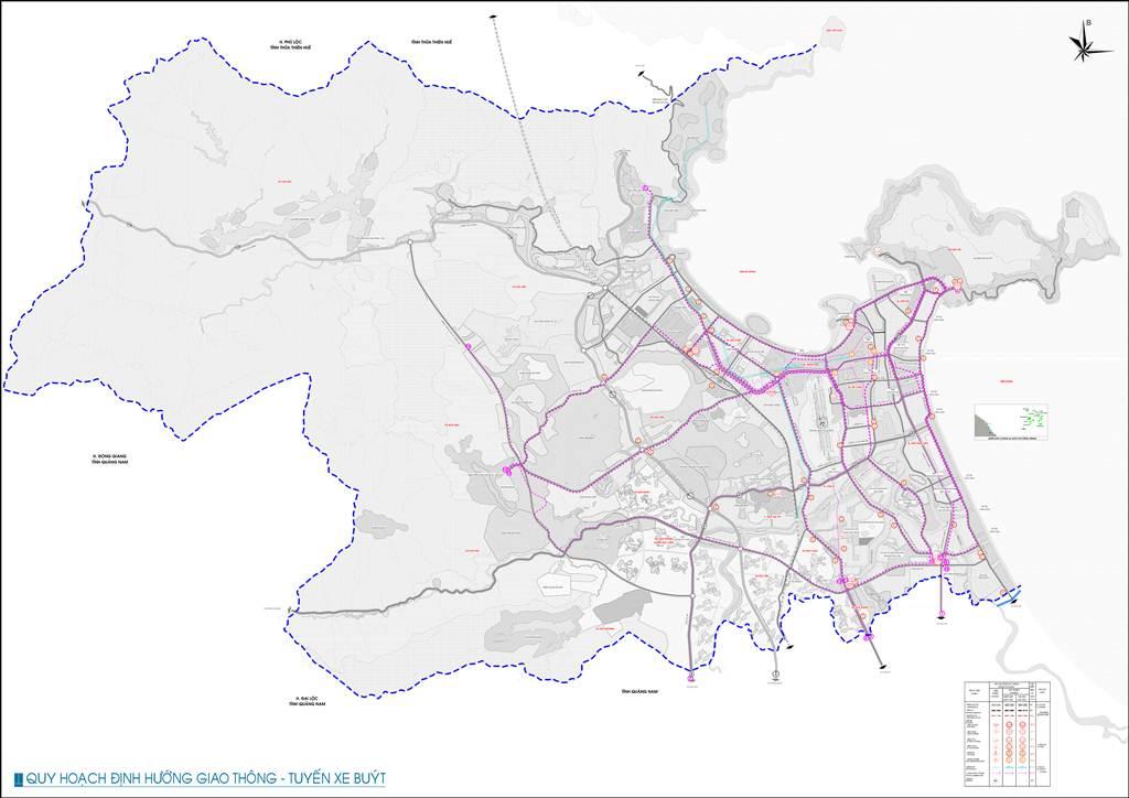Bản đồ định hướng giao thông tuyến xe buýt tp.Đà Nẵng