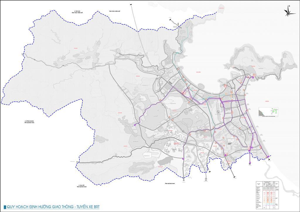 Bản đồ định hướng giao thông BRT tpĐà Nẵng