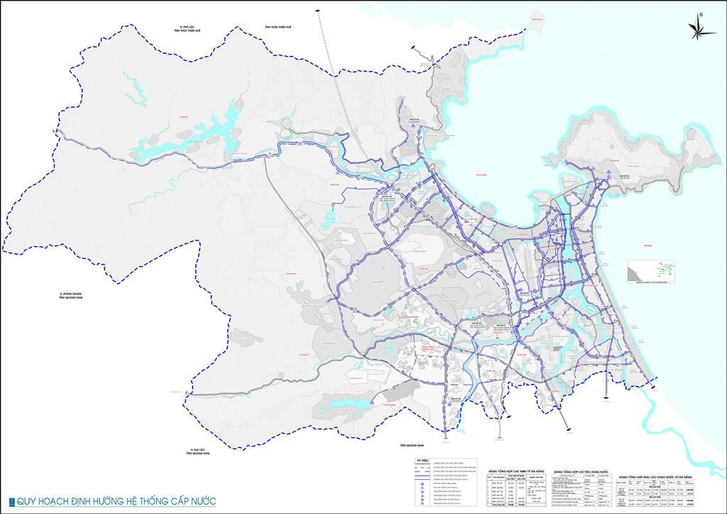 Bản đồ định hướng cấp nước Đà Nẵng