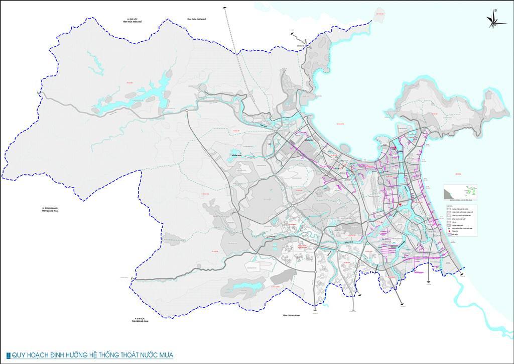 Bản đồ định hướng thoát nước mưa Đà Nẵng