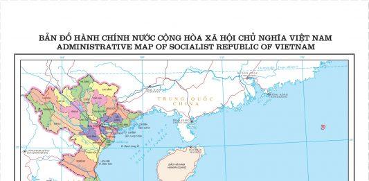 Mẫu Bản đồ hành chính nước Cộng hoà xã hội chủ nghĩa Việt Nam