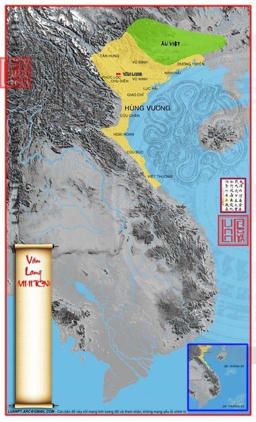Nước Văn Lang thuộc bộ tộc Lạc Việt đã hình thành trên vùng bình nguyên bao gồm đồng bằng sông Hồng, đồng bằng sông Mã và đồng bằng Sông Lam.