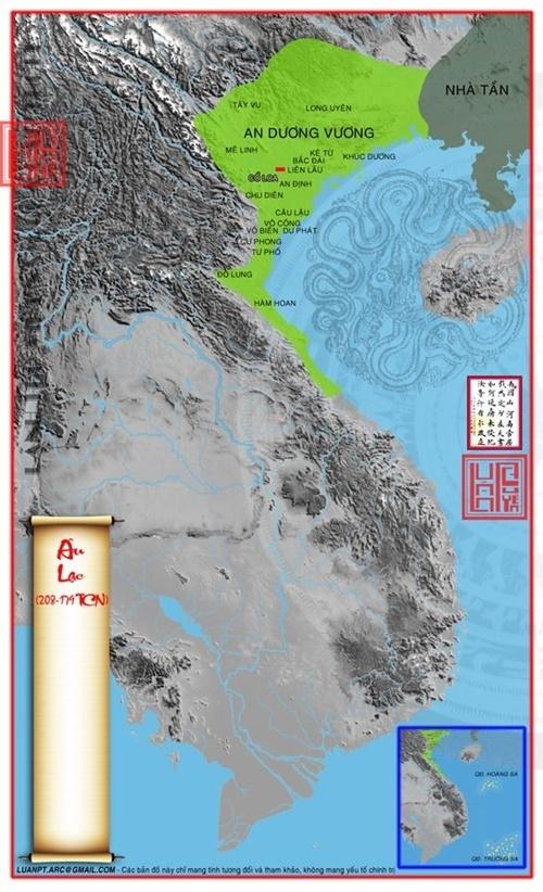 Sau khi chiếm được Văn Lang, Thục Phán đã sát nhập Văn Lang vào đất của mình, nước Âu Lạc có lãnh thổ từ phía nam sông Tả Giang (Quảng Tây,Trung Quốc) kéo xuống tận dãy Hoành Sơn thuộc Hà Tĩnh ngày nay