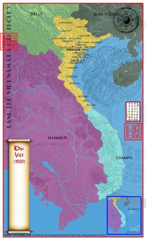 Lãnh thổ nước Đại Việt 1069