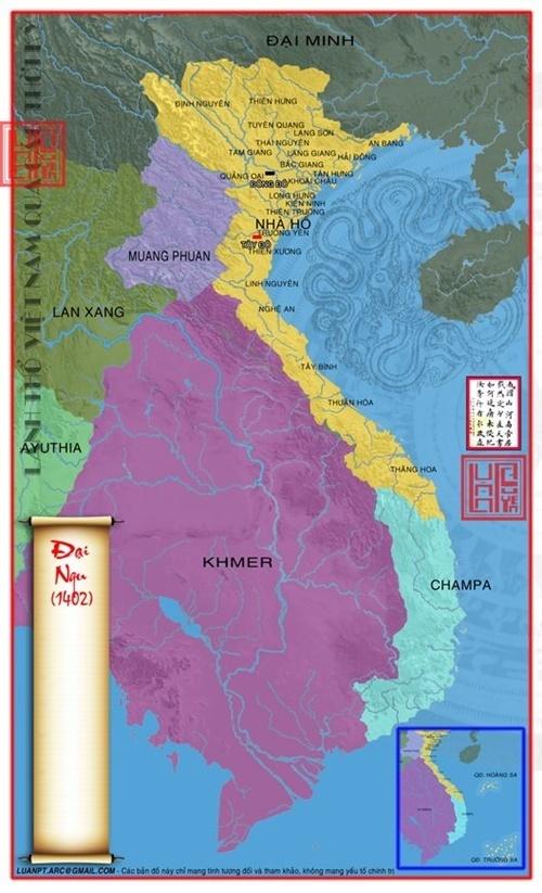 Lãnh thổ nước Đại Ngu 1402