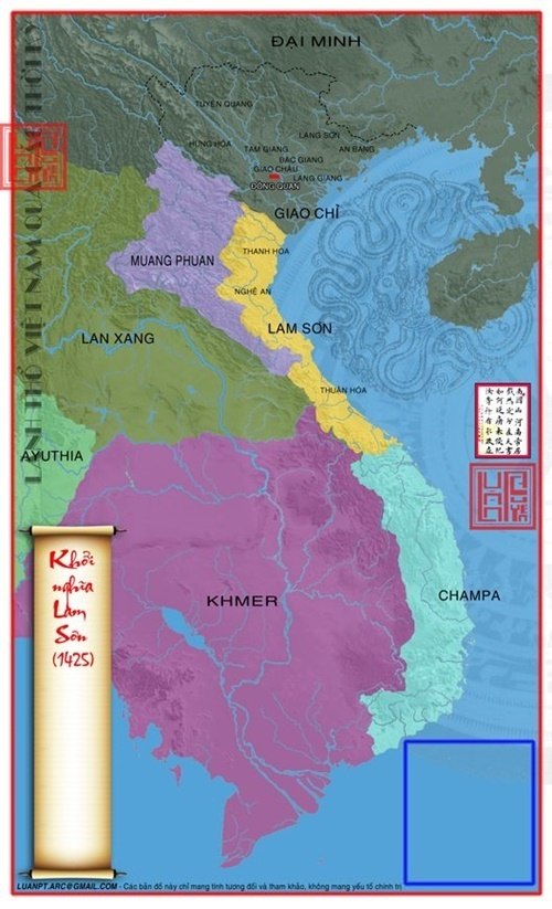 Năm 1425 Lê Lợi đã làm chủ toàn bộ đất đai từ Thanh Hóa trở vào