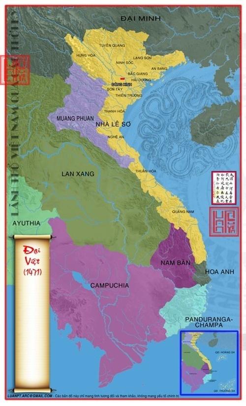 Năm 1471 vua Lê Thánh Tông sát nhập thêm vùng đất phía bắc của Chiêm Thành