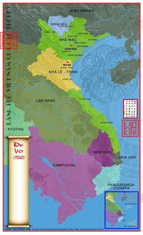 Năm 1540 Nhà Hậu Lê xác lập chỗ đứng trở lại trên lãnh thổ Đại Việt