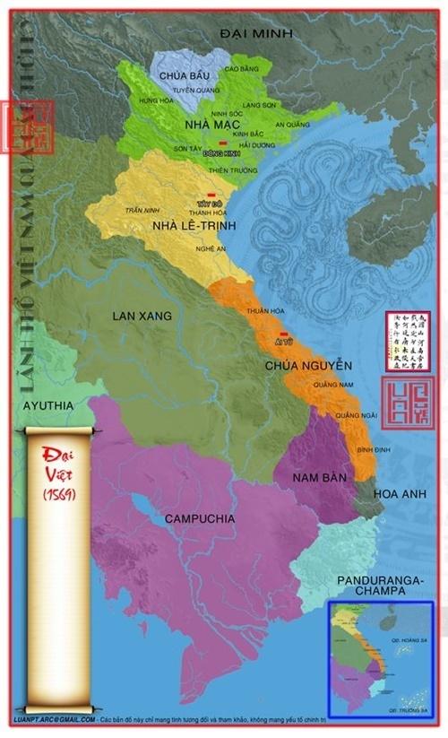 Năm 1569 Nguyễn Hoàng làm Tổng Trấn Tướng Quân cai quản cả Xứ Quảng Nam và Xứ Thuận Hóa