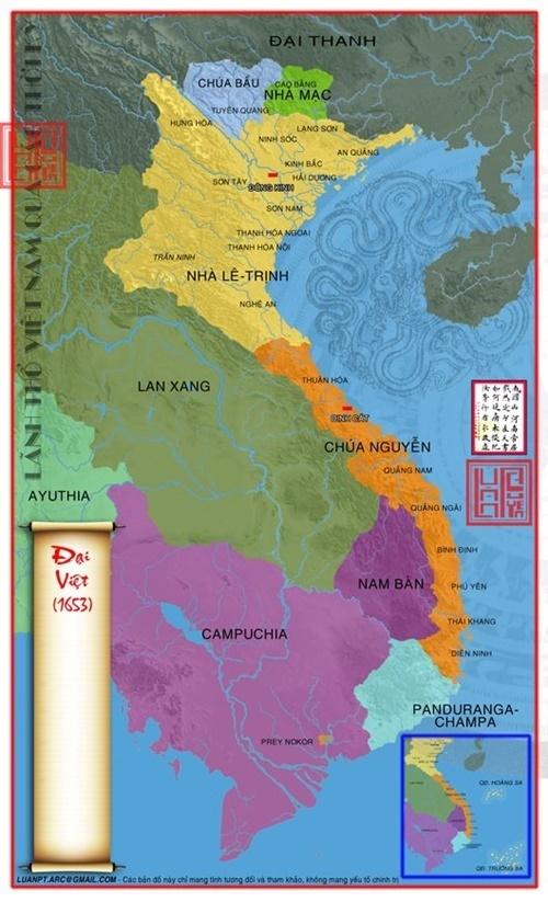 Năm 1653 chúa Nguyễn Phúc Tần chiếm được vùng Khánh Hòa của Chiêm Thành