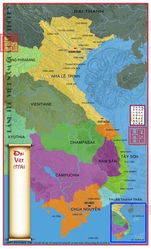 Lãnh thổ Việt Nam vào năm 1774