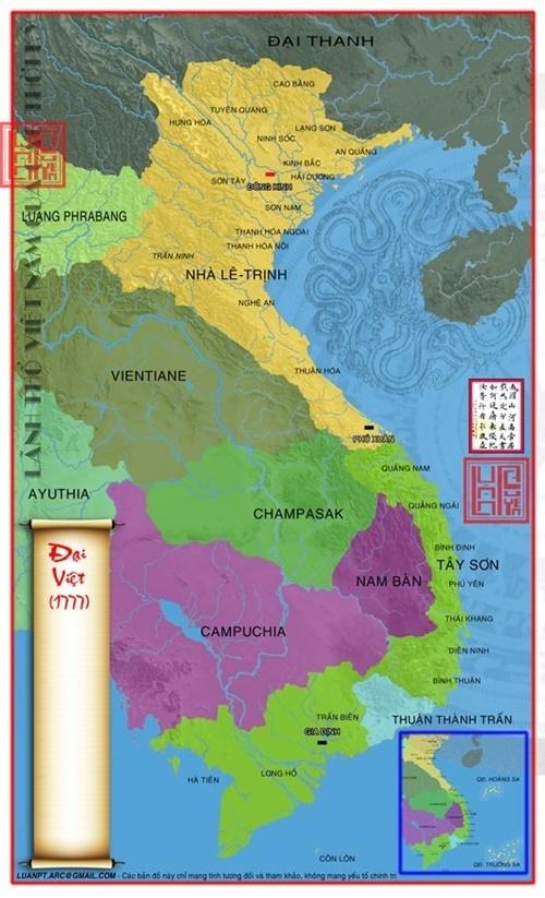 bản đồ lãnh thổ Việt Nam 1777
