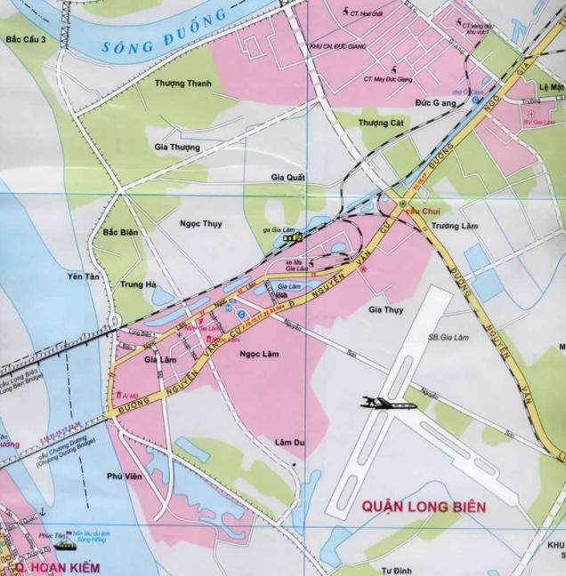 Bản đồ du lịch Hà Nội - Quận Long Biên