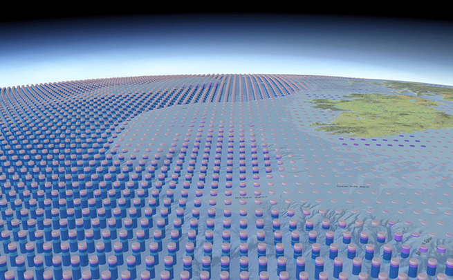 Tấm bản đồ 3D về toàn bộ đại dương đầu tiên trên Trái Đất.