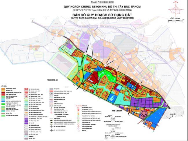 Bản đồ quy hoạch sử dụng đất khu đô thị Tây Bắc - Củ Chi