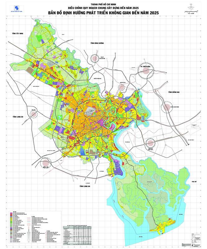 Sơ đồ định hướng phát triển không gian thành phố đến năm 2025