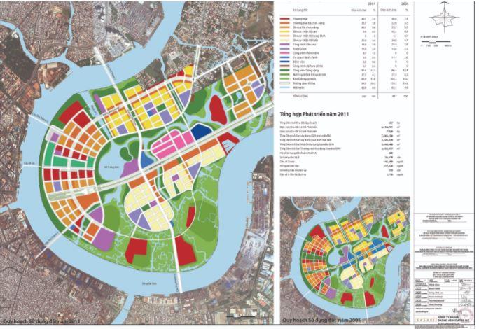 Bản đồ quy hoạch sử dụng đất thủ thiêm
