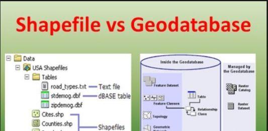 Sự khác biệt giữa shapfile và geodatabase