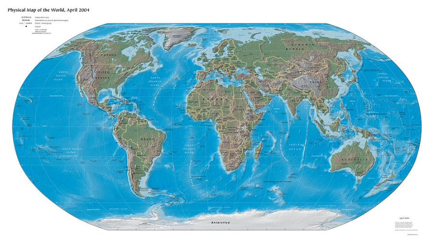 Bản đồ thế giới năm 2004