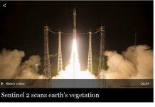 Hình ảnh vệ tinh Sentinel 2B được phóng lên quỹ đạo