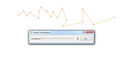 Làm thưa tọa độ với công cụ Simplify line tolerance