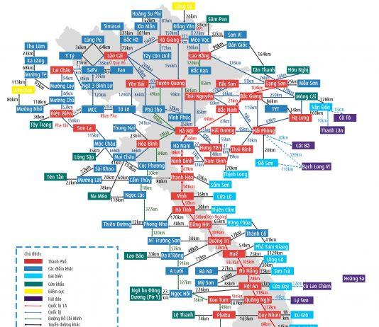 Bản đồ du lịch Việt Nam dành cho dân phượt bụi