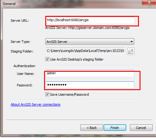 điền user và passsword