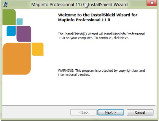 Hướng dẫn cài đặt mapinfo 11
