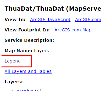 legend service arcgis