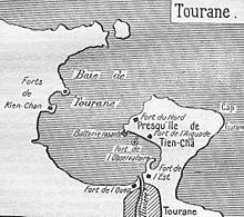 Bản đồ Tourane (Đà Nẵng) thời Pháp thuộc.