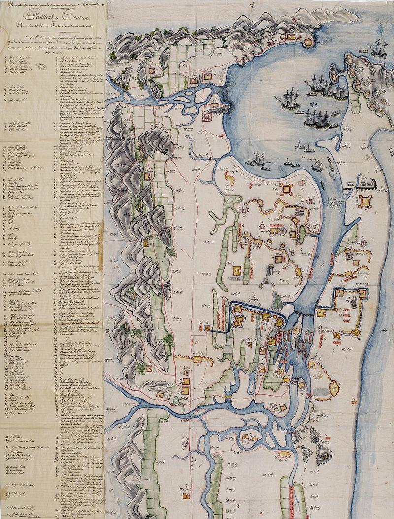 Bản đồ Đà Nẵng năm 1859