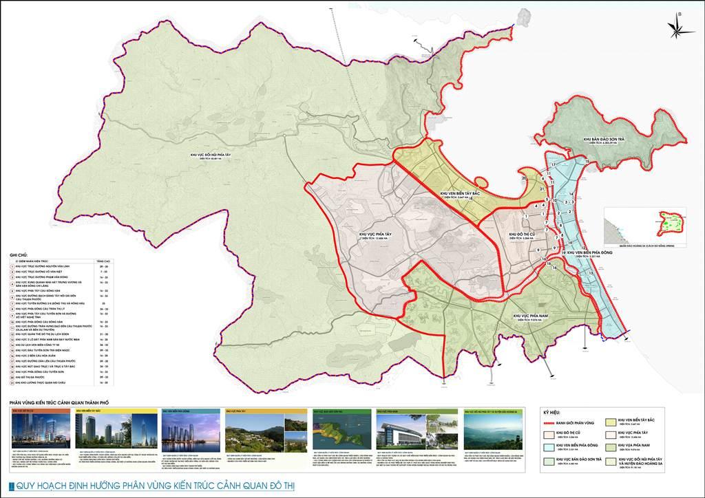 Bản đồ định hướng cảnh quan đô thị Đà Nẵng