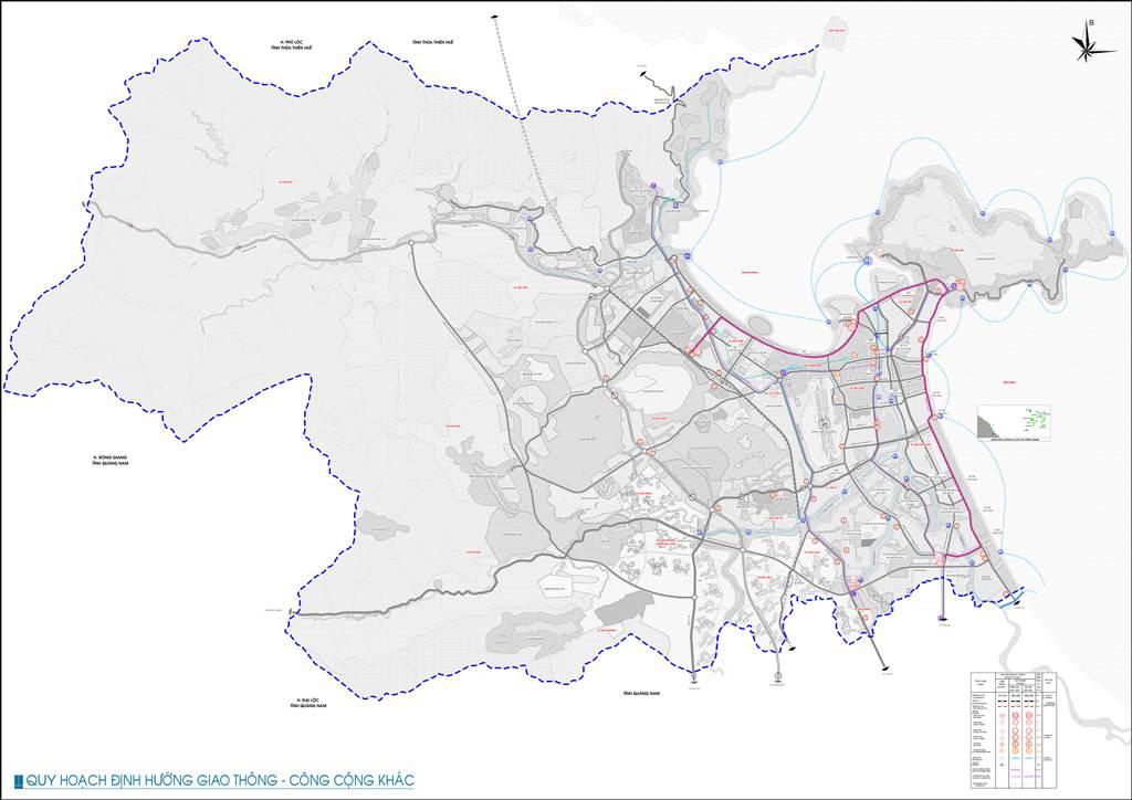 Bản đồ định hướng giao thông công cộng khác Đà Nẵng