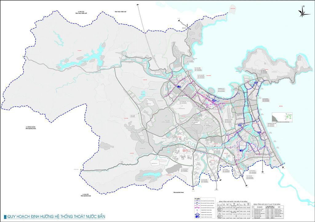 Bản đồ định hướng thoát nước bẩn Đà Nẵng