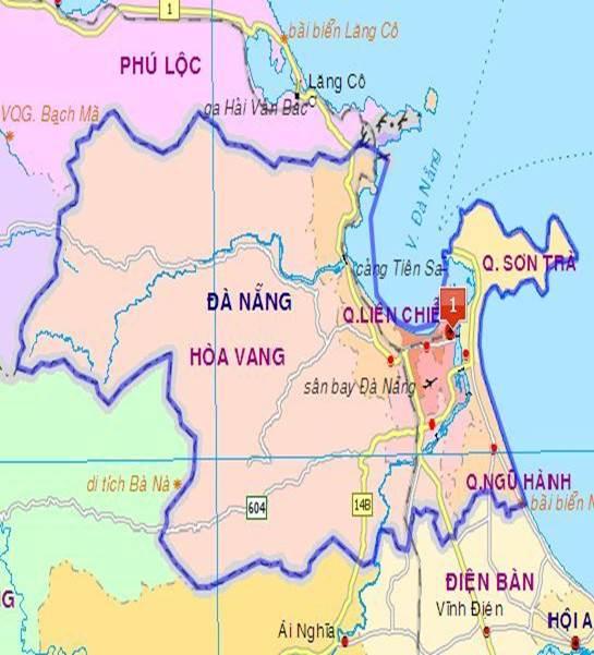 bản đồ các quận đà nẵng