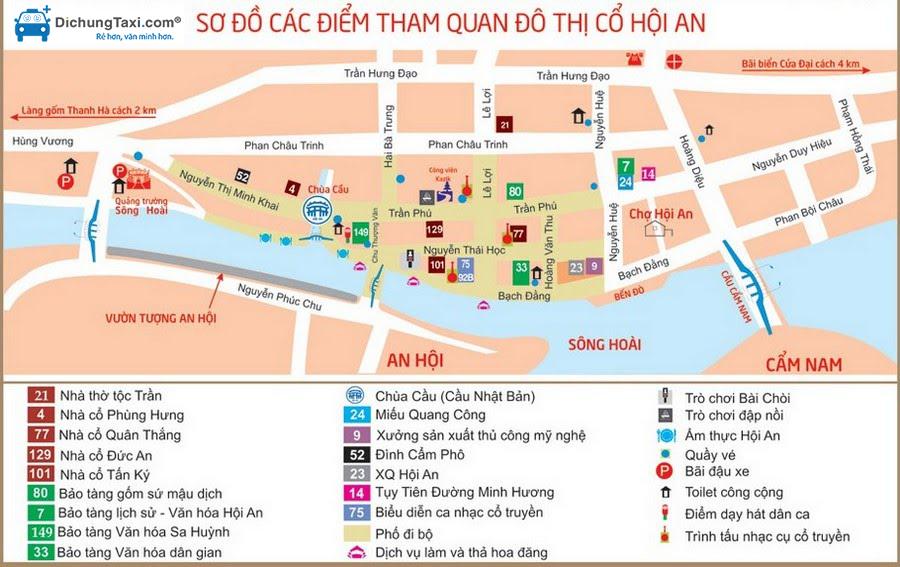 Bản đồ du lịch Hội An, Đà Nẵng