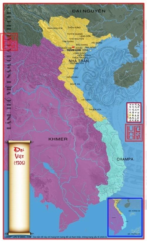 Lãnh thổ Việt Nam thời nhà Trần 1306