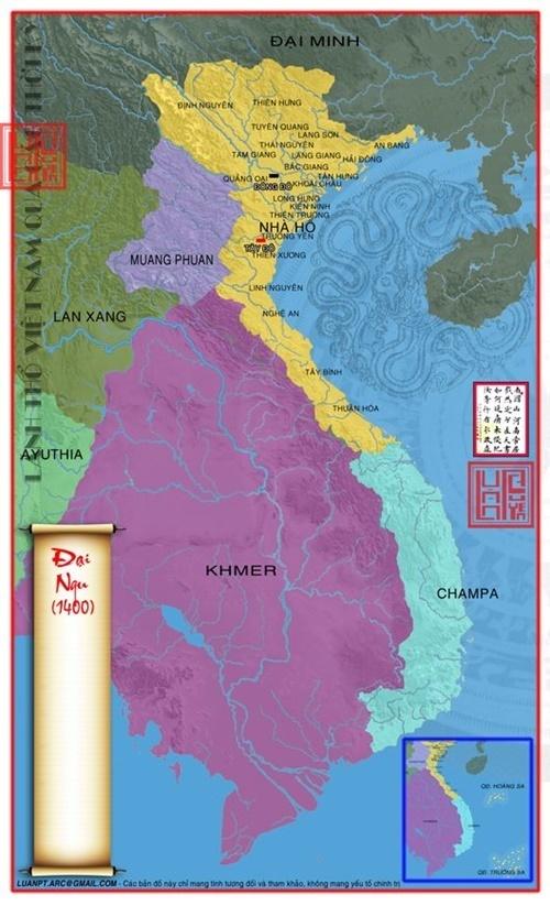 Lãnh thổ nước Đại Ngu 1400