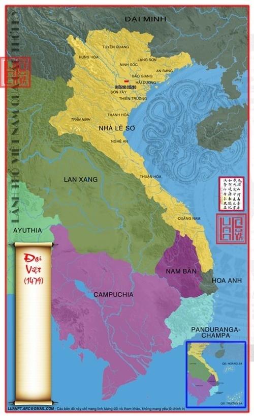 Lãnh thổ Việt Nam vào năm 1479