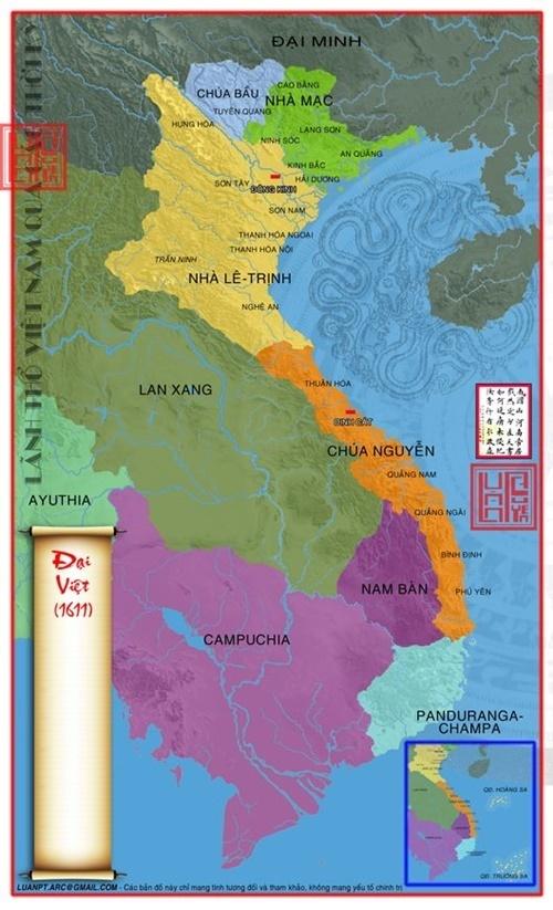 Năm 1611 đất họ Nguyễn đã trải dài đến vùng cực nam Phú Yên