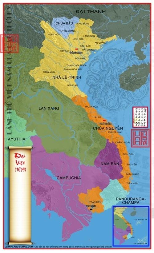 Lãnh thổ Đại Việt Năm 1679
