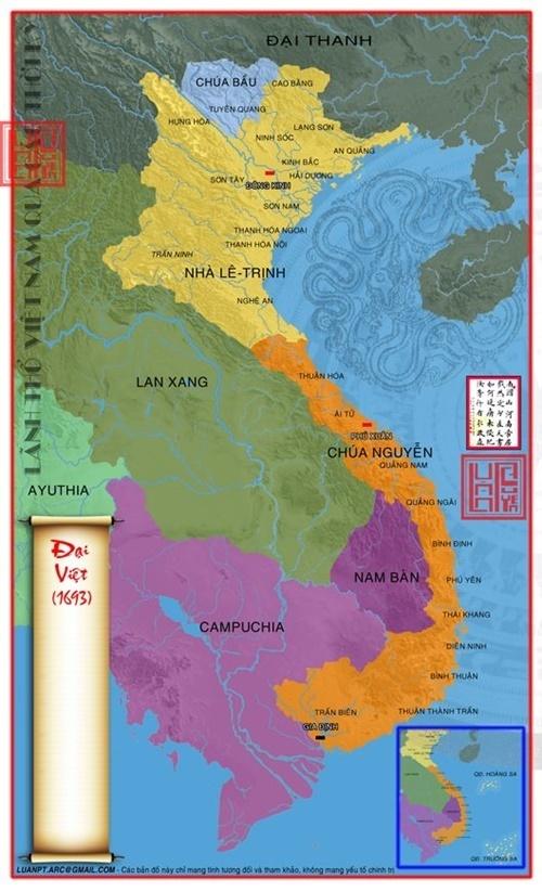 Năm 1693, chúa Nguyễn Phúc Chu chính thức sáp nhập phần còn lại của vương quốc Chiêm Thành