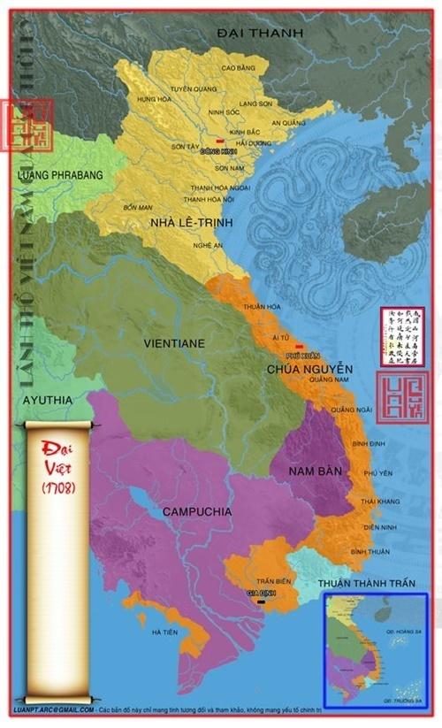 Lãnh thổ Đại Việt năm 1708 khai phá đến vùng đất Hà Tiên – Kiên Giang ngày nay